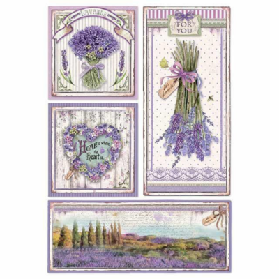 Provence Frames - A4 -Stamperia Rice Paper