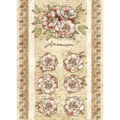 Roses And Flowers by Donatella Anemone - A4 -Stamperia Rice Paper