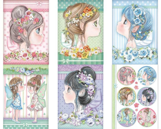 Fairies- A4 -Stamperia Rice Paper