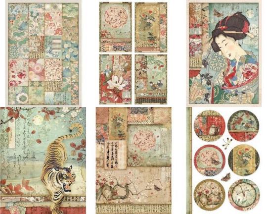 Oriental Garden Rice Paper - A4 -Stamperia Rice Paper