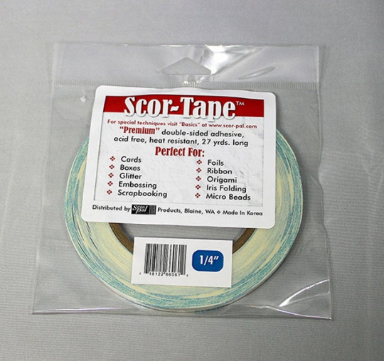 "Scor-tape 1/4"" - Double Sided Tape - 1/4 inch"