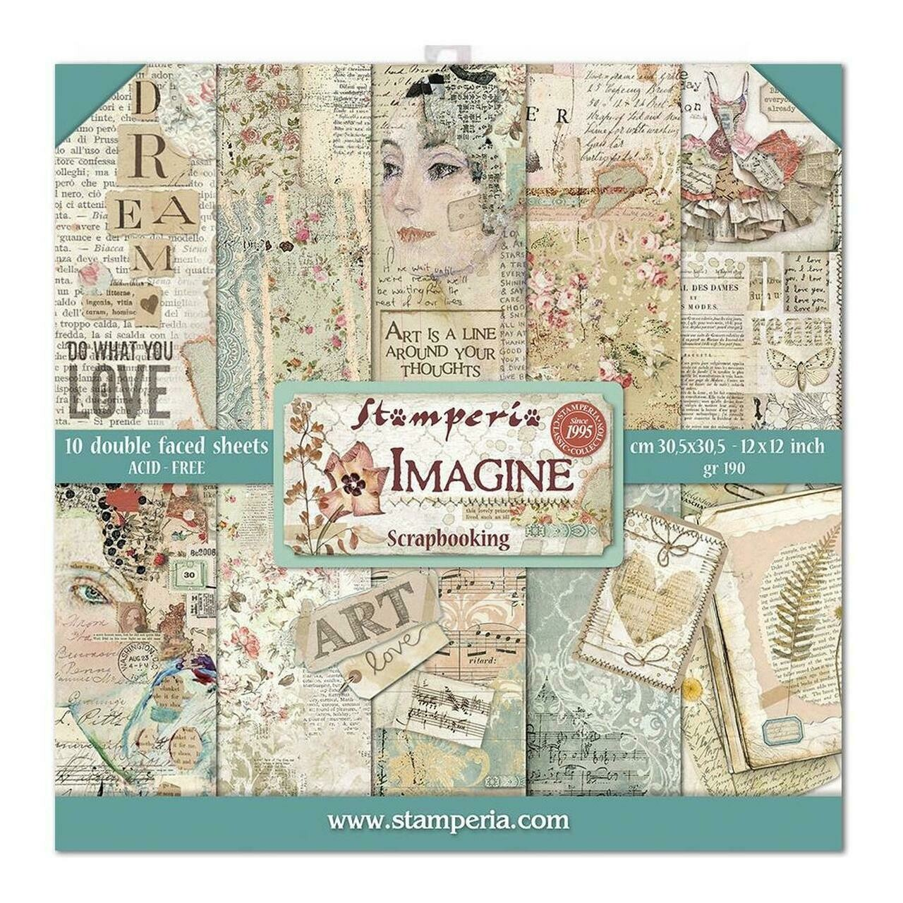 Stamperia Imagine - 12 x 12 Paper Pad