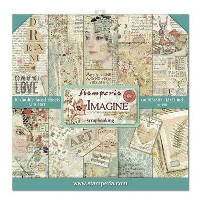 Stamperia Imagine - 12 x 12 Paper Pad