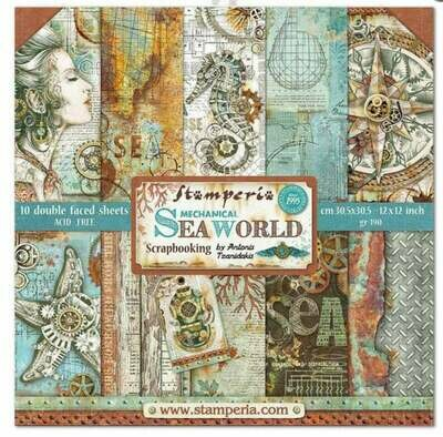 Stamperia Sea World - 12 x 12 Paper Pad