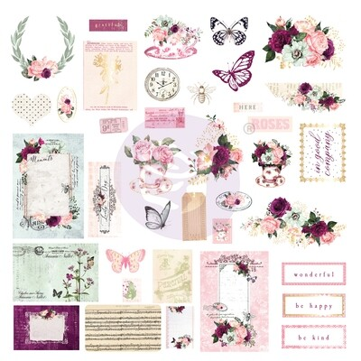 Pretty Mosaic Collection Ephemera - Prima