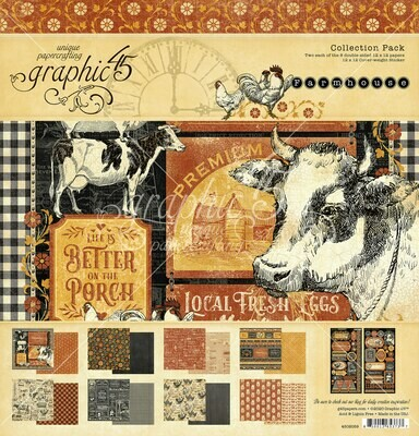 Farmhouse 12x12 Collection Pack w/ Stickers - Farmhouse Collection - Graphic 45