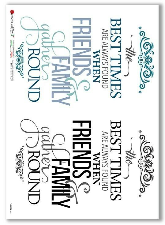 Phrases 0031 - A3 - Paper Designs Rice Paper