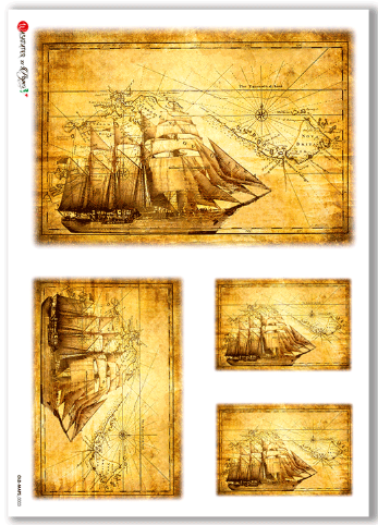 Old-Maps-0003 - A4 Rice Paper - Paper Designs