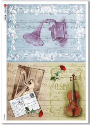 Shabby-0002 - A4 Rice Paper - Paper Designs