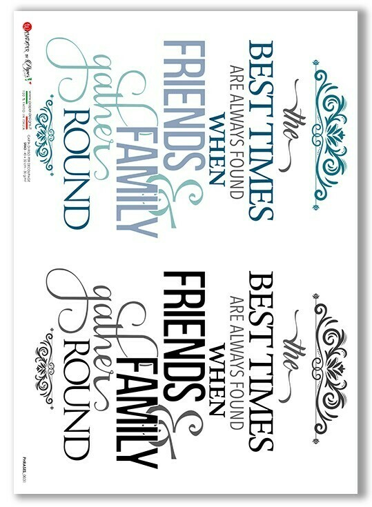Phrases-0031 - A4 Rice Paper - Paper Designs