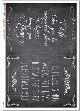 Phrases-0032 - A4 Rice Paper - Paper Designs