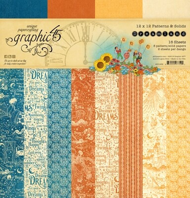 Dreamland 12x12 Patterns & Solids - Dreamland Collection - Graphic 45