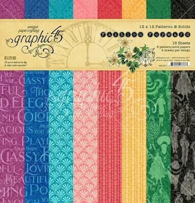Fashion Forward 12x12 Patterns & Solids - Fashion Forward Collection - Graphic 45