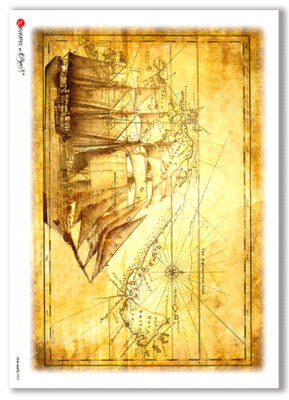 Old-Maps-0002 - A4 Rice Paper - Paper Designs