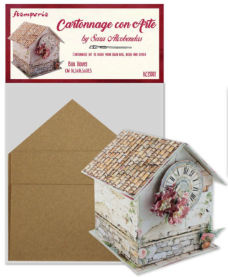 Box House - Cartonnage Kit - Stamperia
