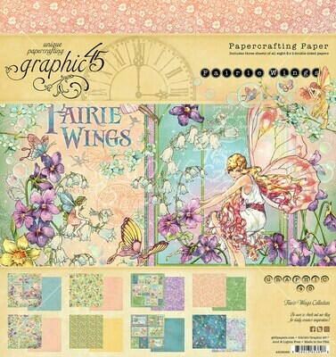 Fairie Wings 8x8 Paper Pad - Fairie Wings Collection - Graphic 45