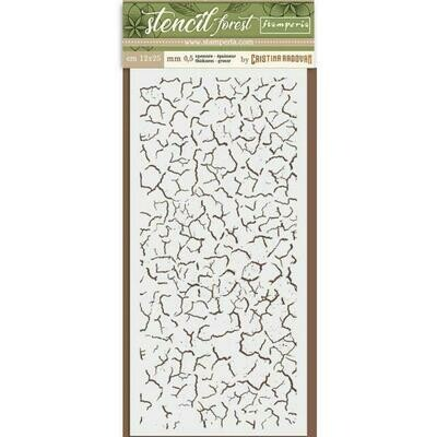 Crackle Stencil - Forest Stencil - Stamperia