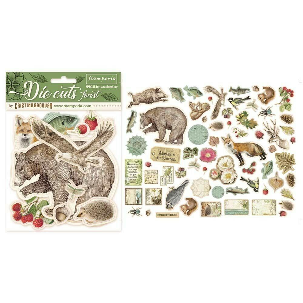 Forest Die Cut Assortment - Stamperia