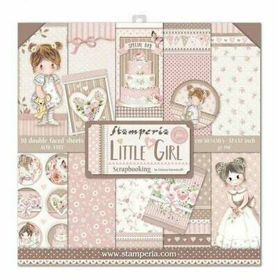 Little Girl 12x12 Paper Pad - Stamperia