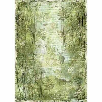 Green Forest A3 Rice Paper - Stamperia