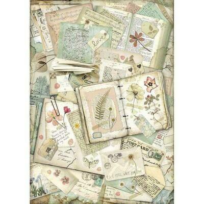 Imagine Notebooks A3 Rice Paper - Stamperia