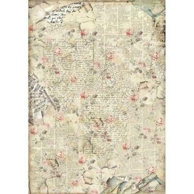Imagine Sound of Roses A3 Rice Paper - Stamperia