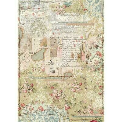 Imagine Wallpaper Layers A3  Rice Paper - Stamperia