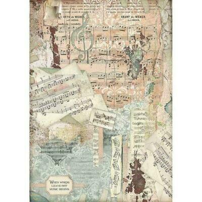 Imagine Music A3 Rice Paper - Stamperia