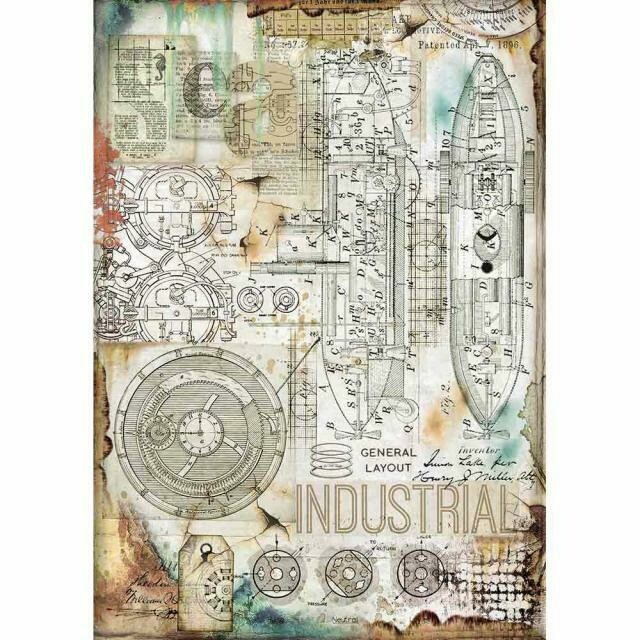 Sea World Industrial A4 Rice Paper - Stamperia