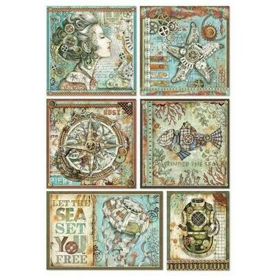 Sea World Frames A4 Rice Paper - Stamperia