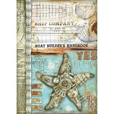 Sea World Sea Star A4 Rice Paper - Stamperia
