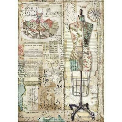 Imagine Mannequin A4 Rice Paper - Stamperia