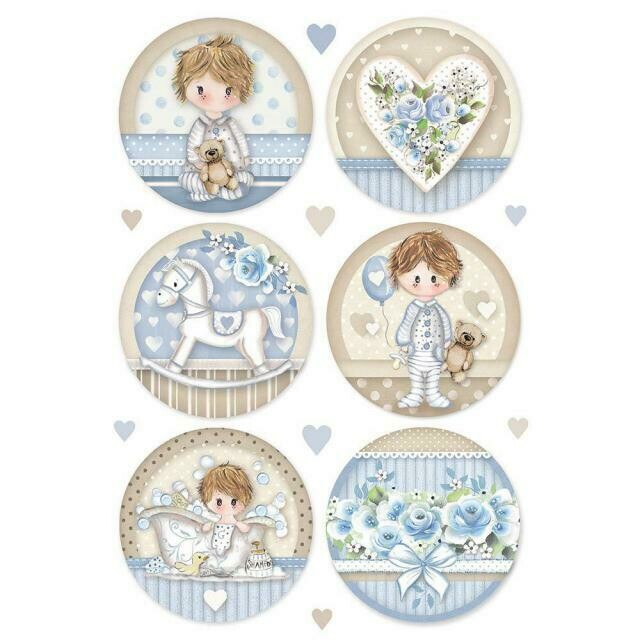 Little Boy Round A4 Rice Paper - Stamperia
