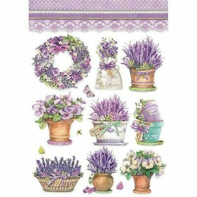 Lavender Vase A4 Rice Paper - Stamperia