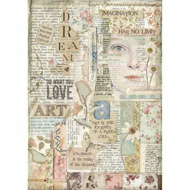 Imagine Love Art A4 Rice Paper - Stamperia