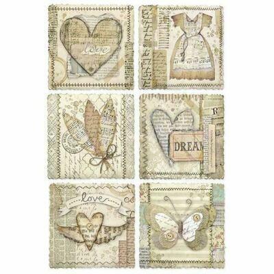 Imagine Heart Frames A4 Rice Paper - Stamperia