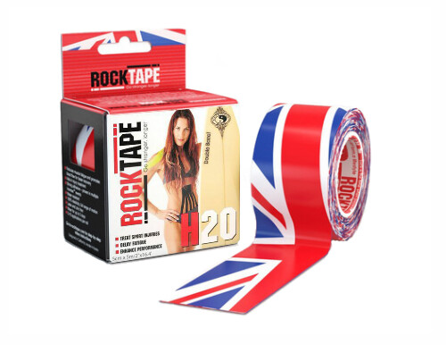 RockTape H2O, 5см×5м, британский флаг