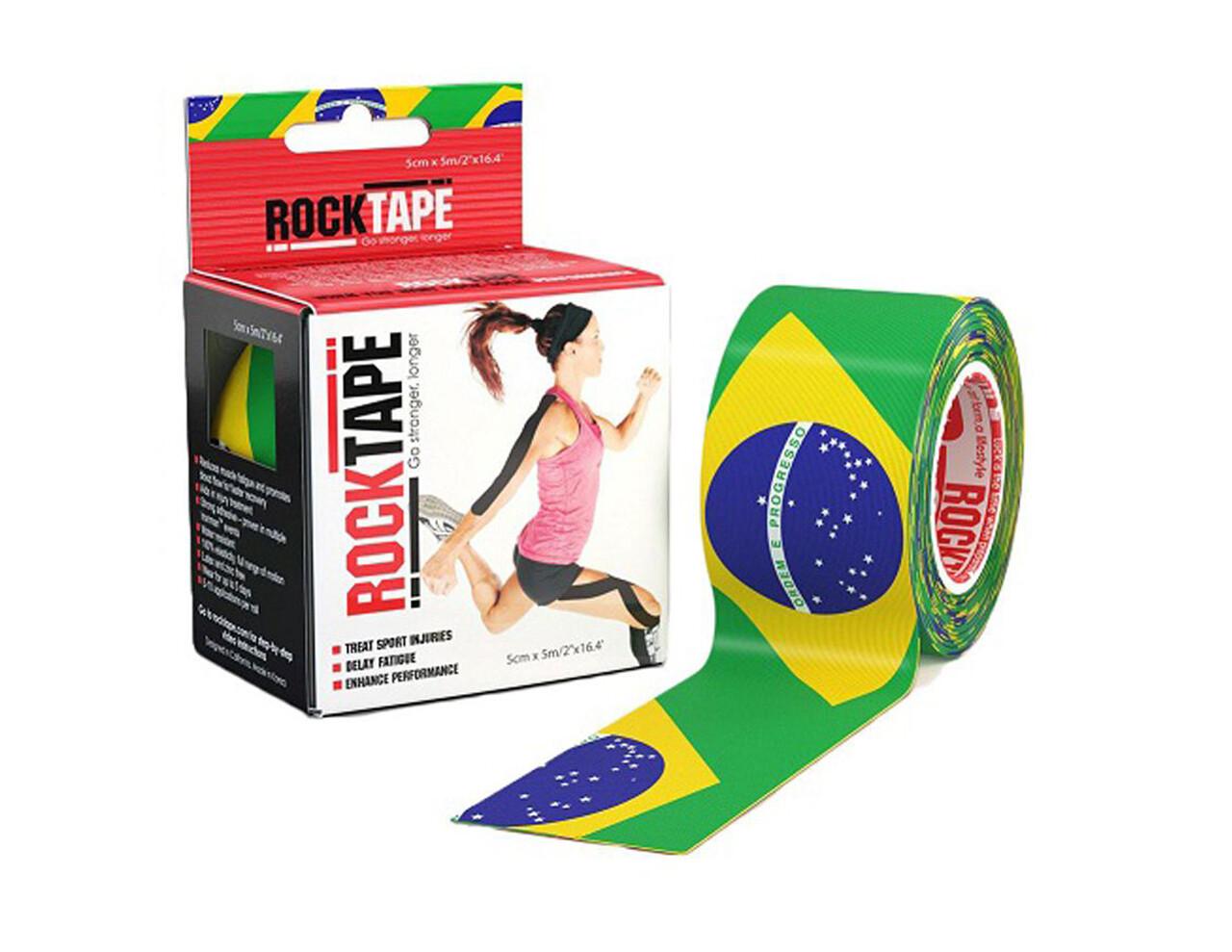 RockTape, 5см×5м, Brazil Flag