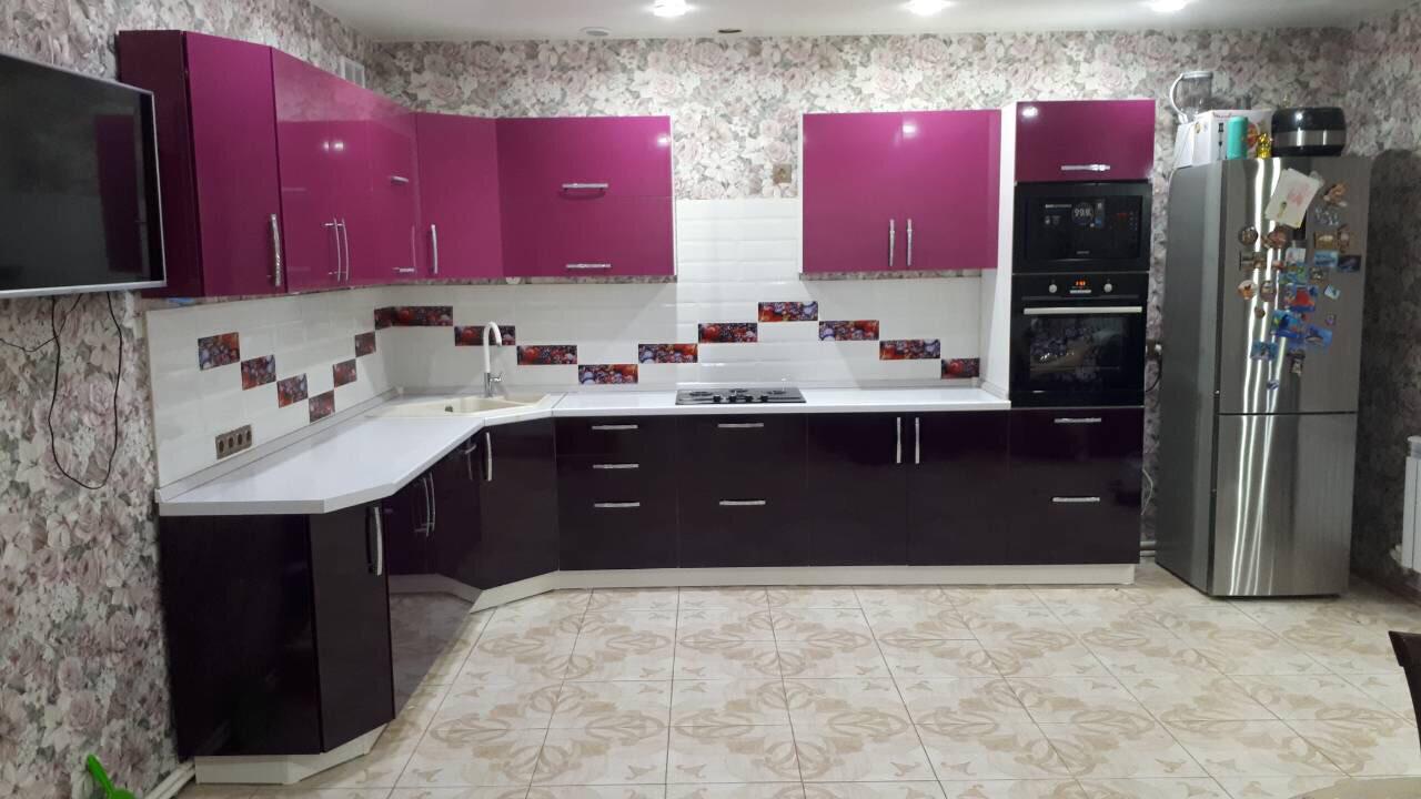 Кухня   Пленка   Глянец   Черная фуксия