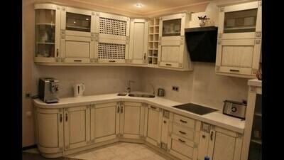 Кухня   Ясень   Белый   Флора 2
