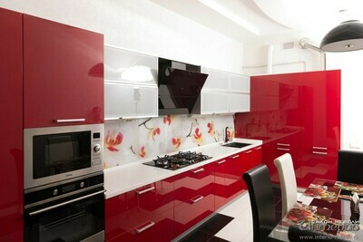 Кухня | Акрил | Lemark | Красный
