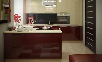 Кухня | Акрил | Lemark | Бордо Ваниль