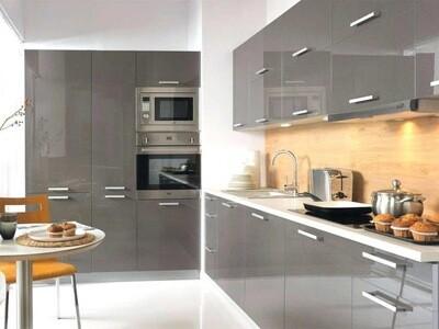 Кухня | Акрил | Lemark | Темный беж