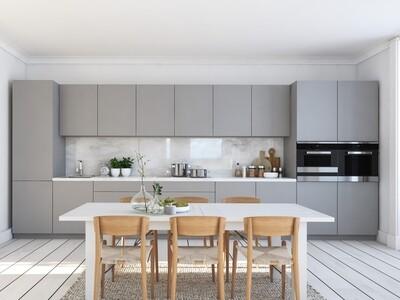 Кухня | Пластик | Melatone | Серый мат