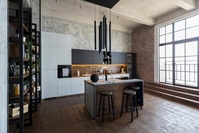 Кухня | Пленка | Интегра | Белый графит