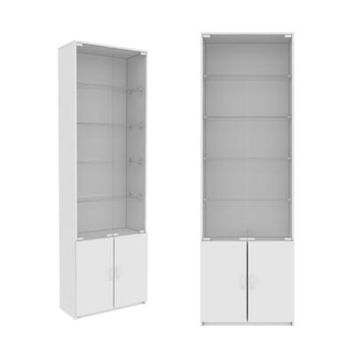 Шкаф | Распашной | Со стеклянными дверцами