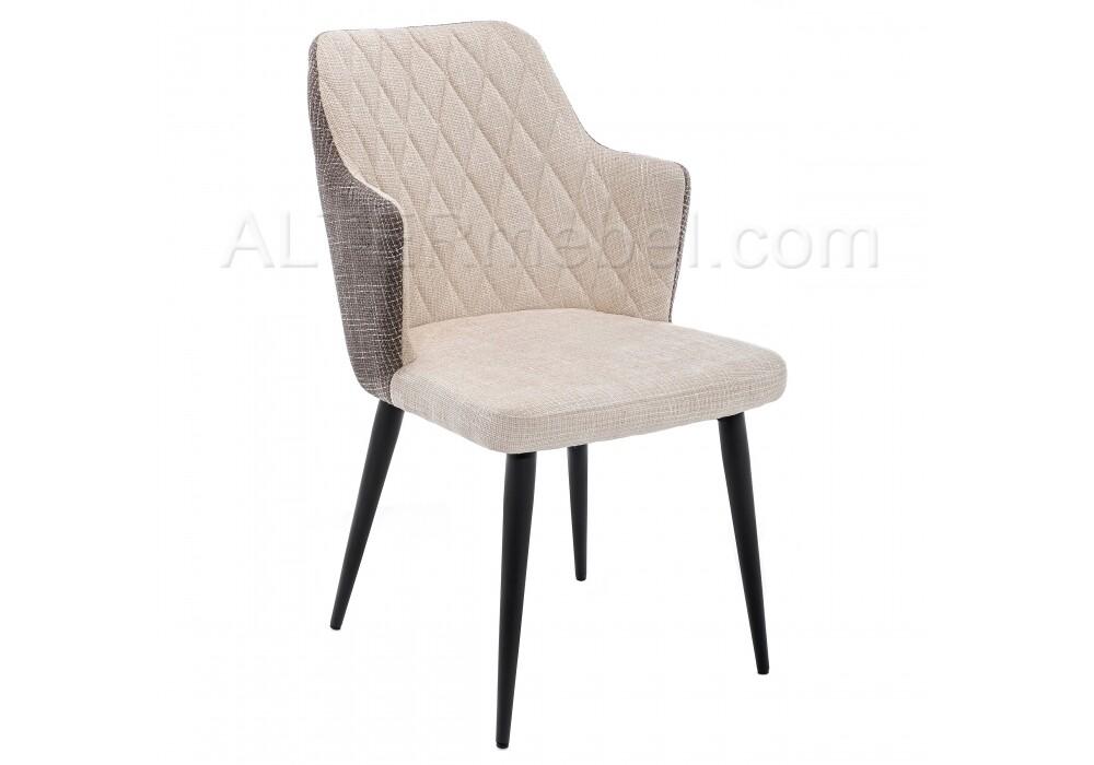 Стул Velen dark brown / beige fabric