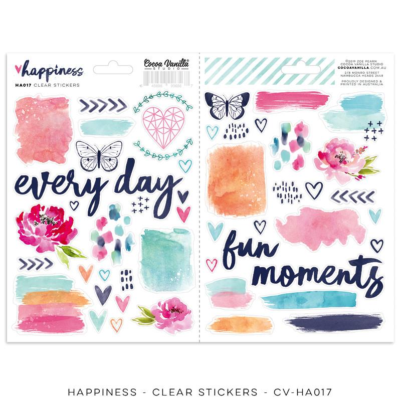 Cocoa Vanilla Happiness Clear Stickers