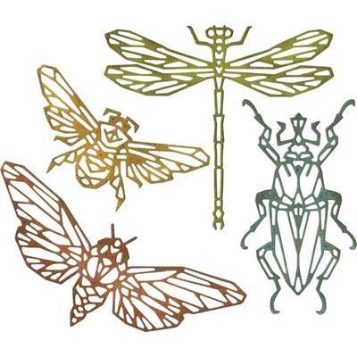 Tim Holtz Sizzix Thinlits Dies Geo Insects