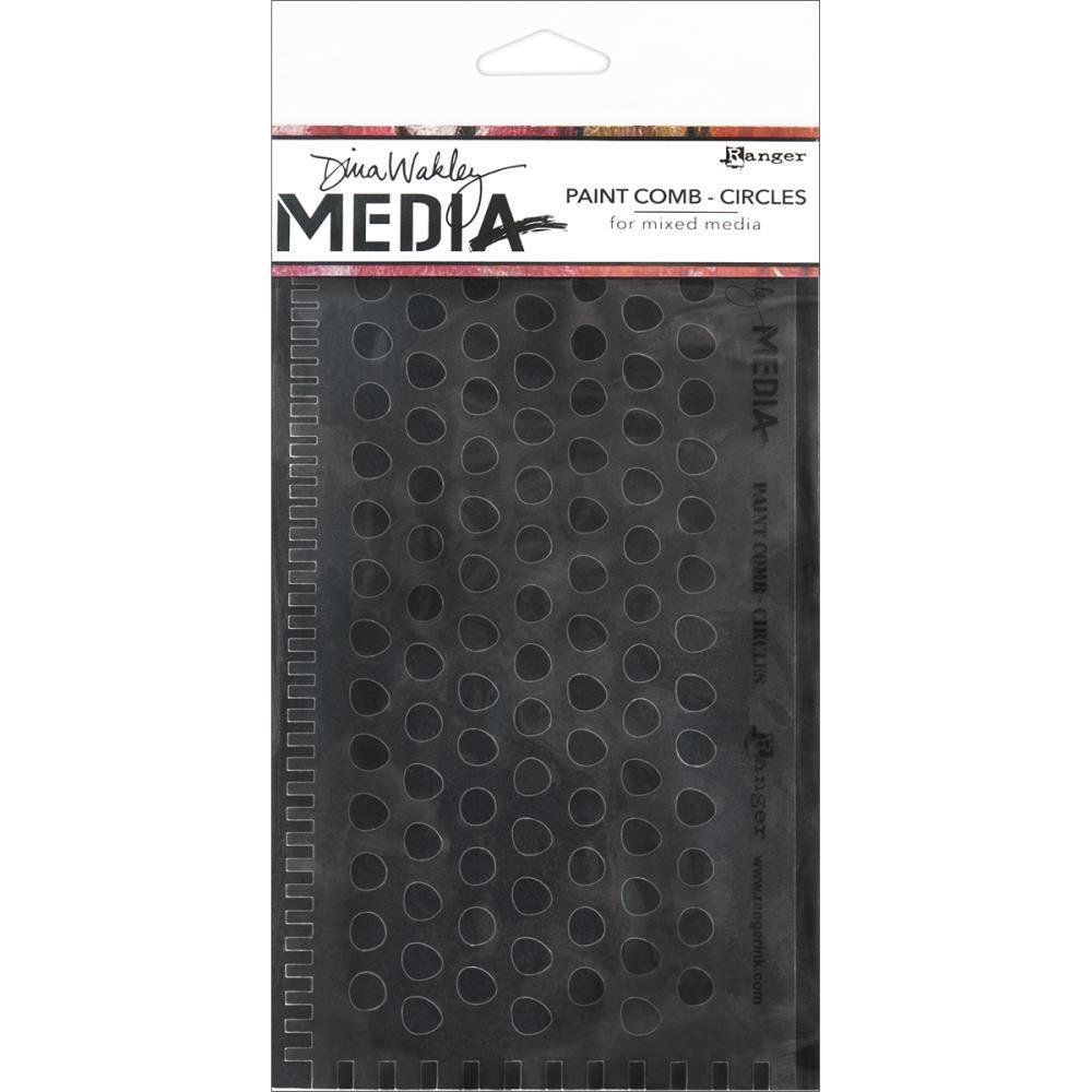 Dina Wakley Media Paint Comb - Circles
